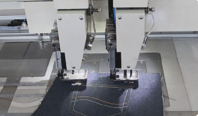 Chinese Dual Color Computer Sewing Machine for leather bags