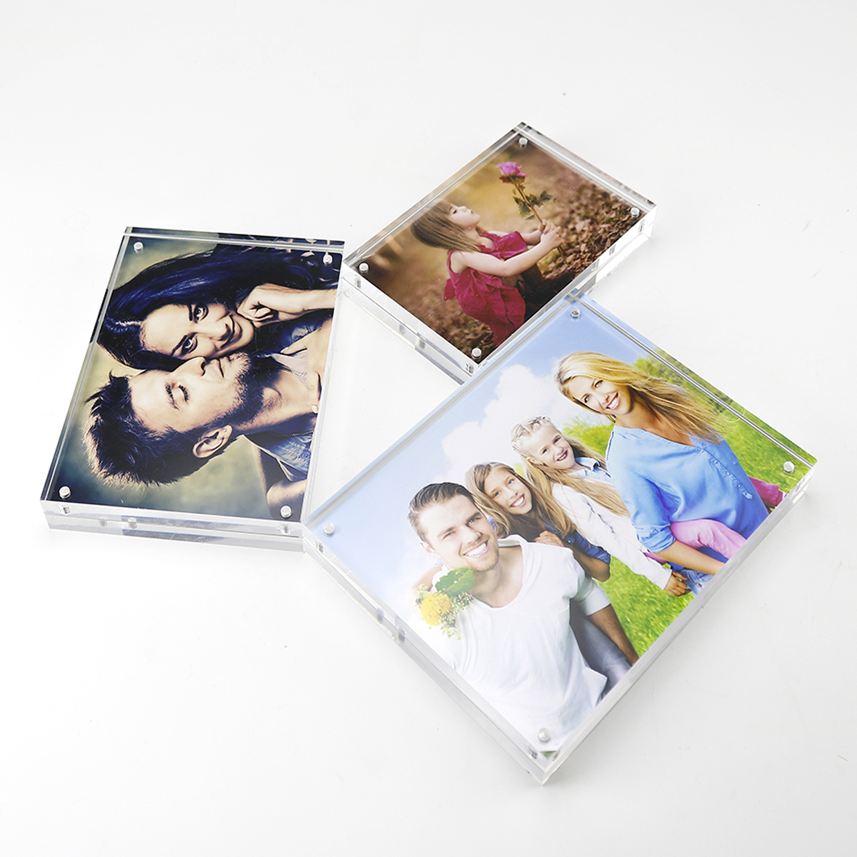 sexy girls photo frame factory  wholesale  and large size custom acrylic  picture/painting frames for home decoration
