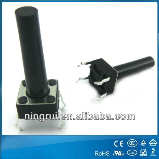 4mm right angle tact switch with lock Rating: 50mA 12VDC with lock
