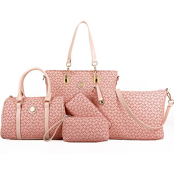 E1081made China Whole Handbags Collection Women 6 In 1 Bags And Clutches Cluthes Woman
