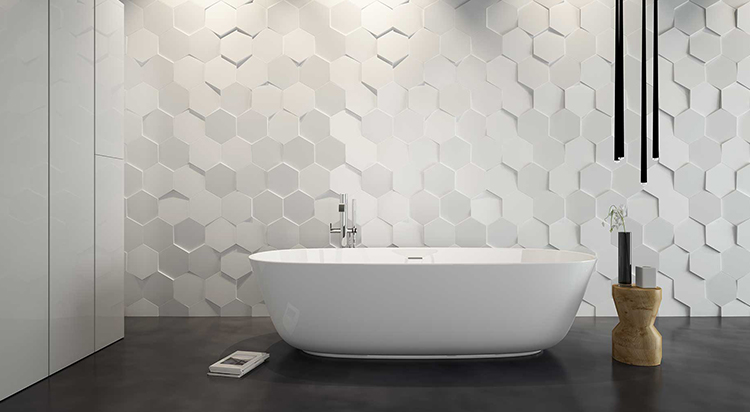 popular mixed gray hexagon polished marble mosaic wall tile 3D Athens grey hexagon nature marble wood look mosaic wall  tile