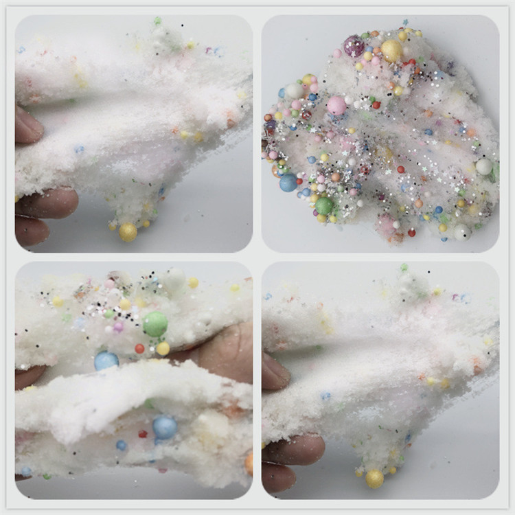 Bright mermaid cloud mud four colors optional 100ml bubble ball cloud slime