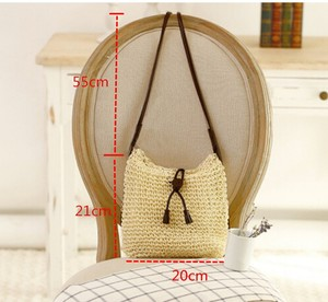 Fashion Woven Shoulder Bags Straw Summer Ladies Weave Crossbody Burlap Jute Pouches Beach Small Tote Bag