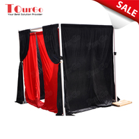 New 2017 Break Apart Adjustable 8 Foot Tall Drape Photo Booth Tent for Weddings, Birthdays, Events