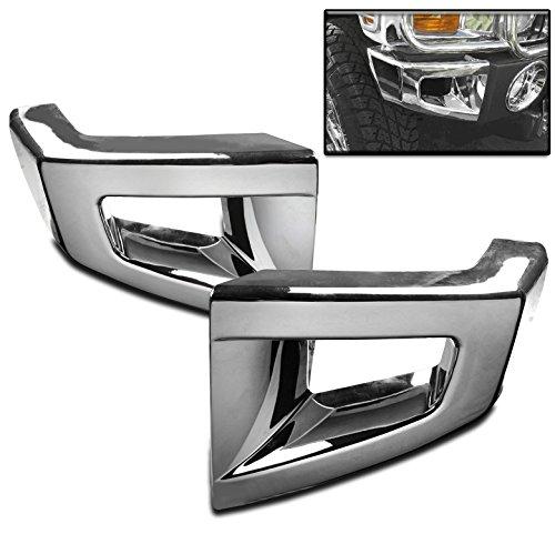ZMAUTOPARTS Hummer H2 Suv Rear Bumper Corner Cover Trim Frame ABS Chrome 2Pcs
