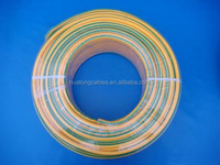 PVC insulation electric cable 1.5mm yellow and green wire