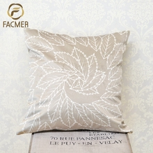 Promotional beige dry leaves Digital Printed Custom Cushion Covers Pillow Case for living room sofa