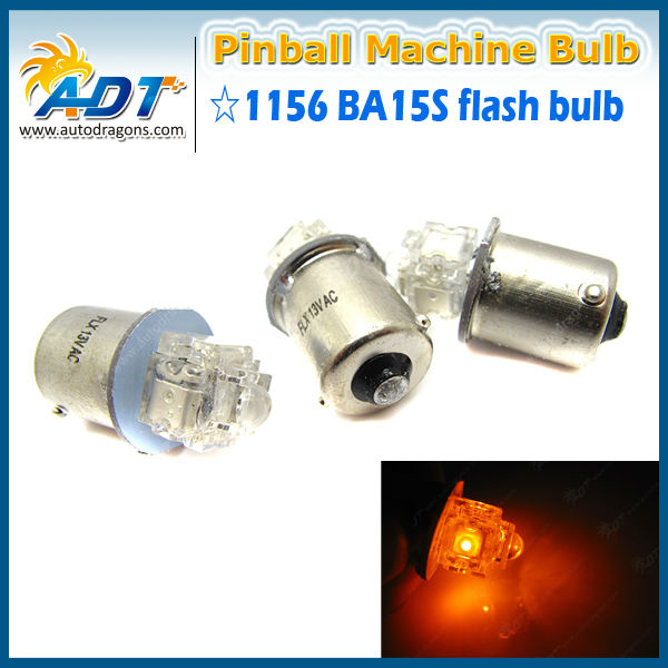 "Pinball LED bulbs 100pcs RED #89 FLASHER /""Ultra Bright/"" 8LED 12v bayonet 8smd"
