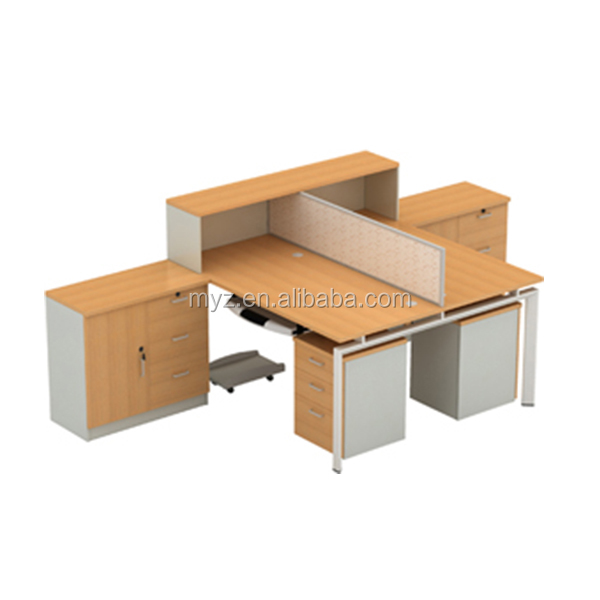office furniture S shape new design 4 person office table computer workstation