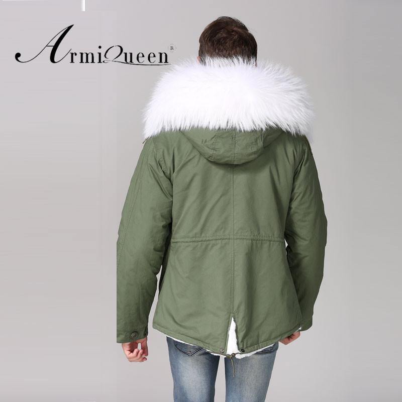 Estilo corto Casual de invierno Mini Parka blanca de piel Plus tamaño W  cuello chaqueta de f983cf210276