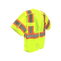 ANSI/ISEA Class 3 Expandable Two Tone Vest Construction Safety Clothing Reflective Vest