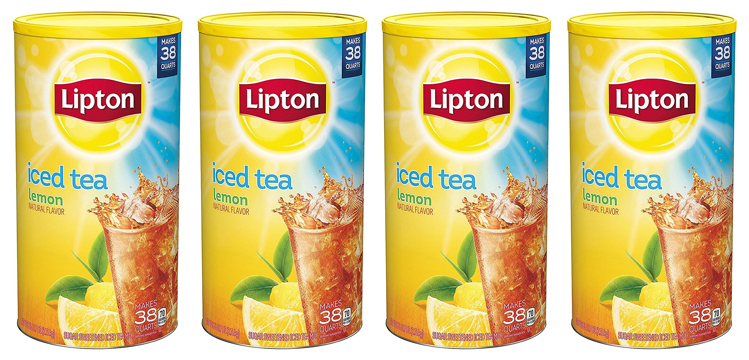 Lipton Iced Tea Mix, Lemon 38 qt - Pack of 4