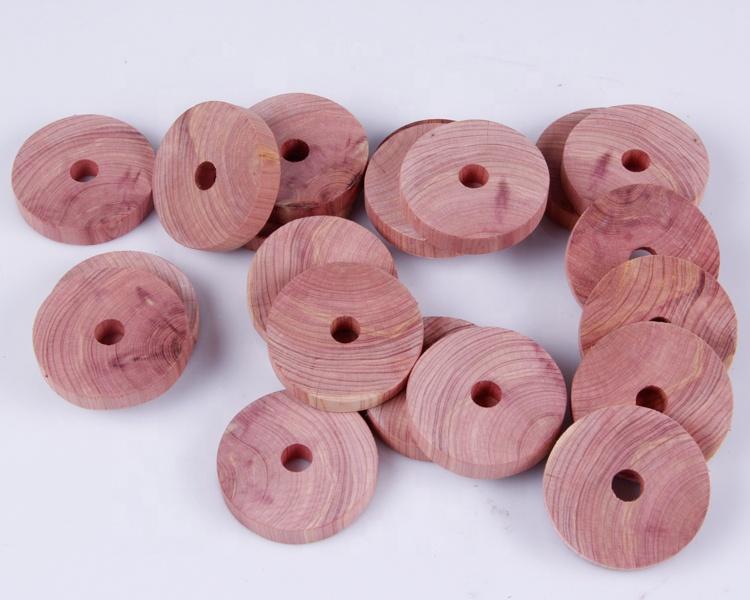 Benutzerdefinierte Frische Kleidung Protector Zedernholz Ring und Motten Abweisend Lagerung 100% Natur Zeder Ring