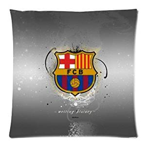 Fc Barcelona Pattern Printed Custom Zippered Pillowcase Cover Pillow Cases Standard Size 18x18 (Twin sides)