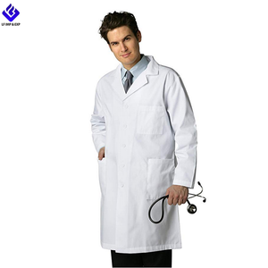 Wholesale Unisex Lab Coat with Pockets In White