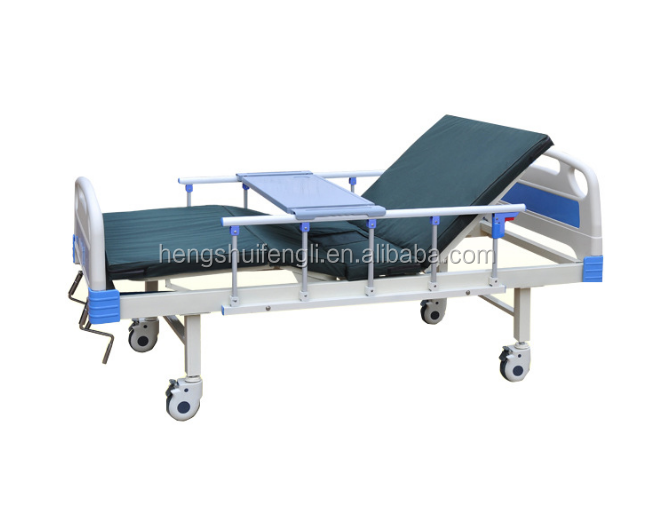 economical and practical 2 cranks manual medical bed in hospital ward room bed price