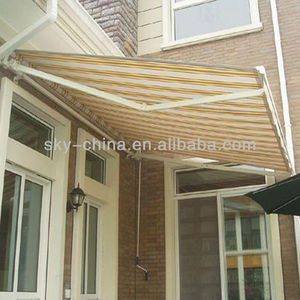 High UV protection aluminum retractable awning hardware for window