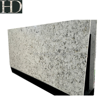 Polished White Artificial Marble Quartz Slab for Countertop Wall Cladding Stone