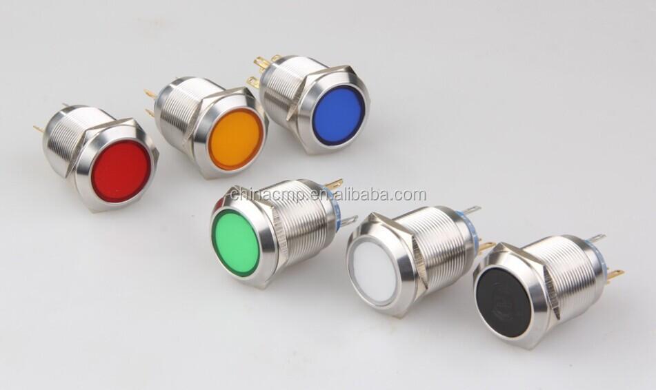 Cmp mm pulsante frontale a led illuminato interruttore di