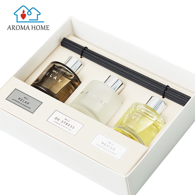Eco-friendly bathroom home oil 50ml x 3 reed diffuser oem