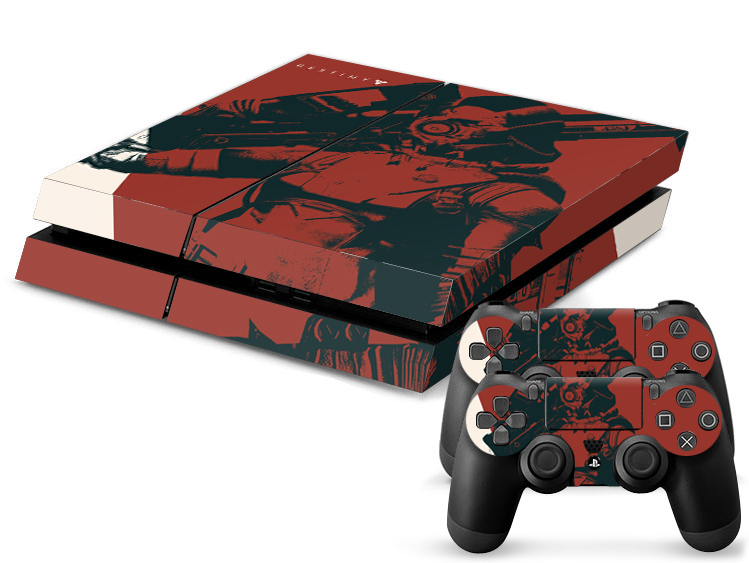 1 Set Vinyl For Destiny PS4 Sticker For Sony Play station 4 Console+2  controller Sticker PS4 Skin No:0478 Free Shopping