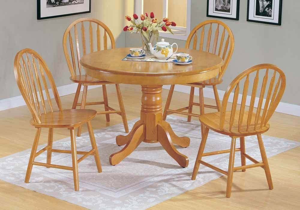 Buy 1perfectchoice Farmhouse 5 Pc Country Style Solid Wood Round