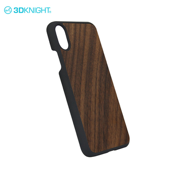 Real walnut mobile phone cover dongguan wood pc case buy for iphone X wood tree case