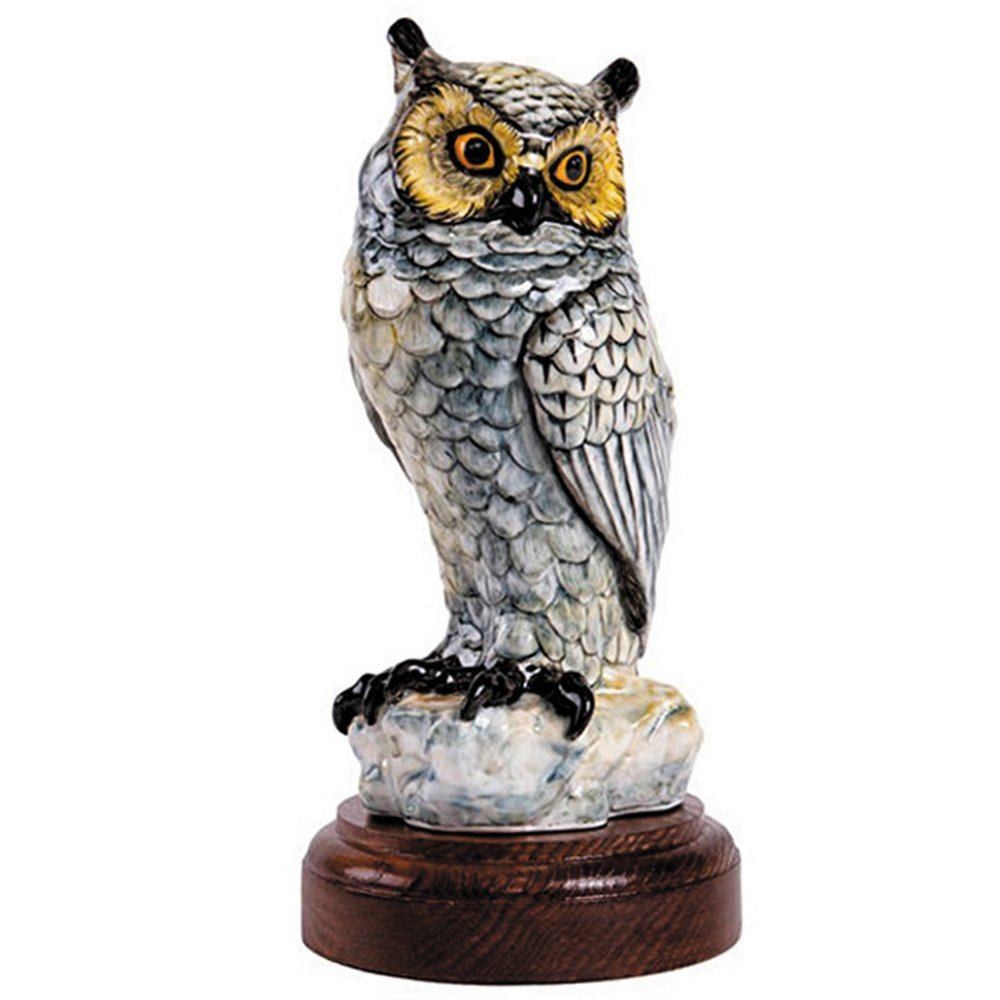 Get Quotations · Porcelain Figurines   Owl Figurine