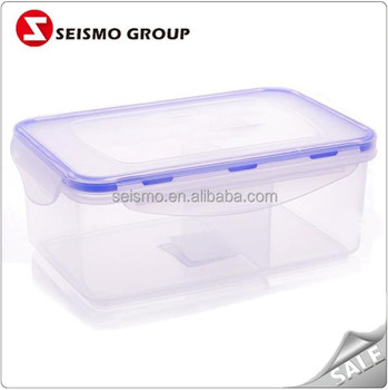 Clear Plastic Storage Box With Dividers Take Away Container Plastic