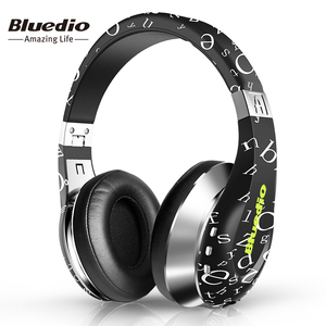 Bluedio Air 3D Surround Sound Bluetooth Headset for Music with Microphone Twistable Headband