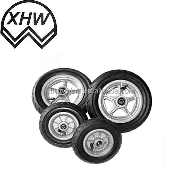 CHINA OEM rubber casters and wheels solid rubber tires
