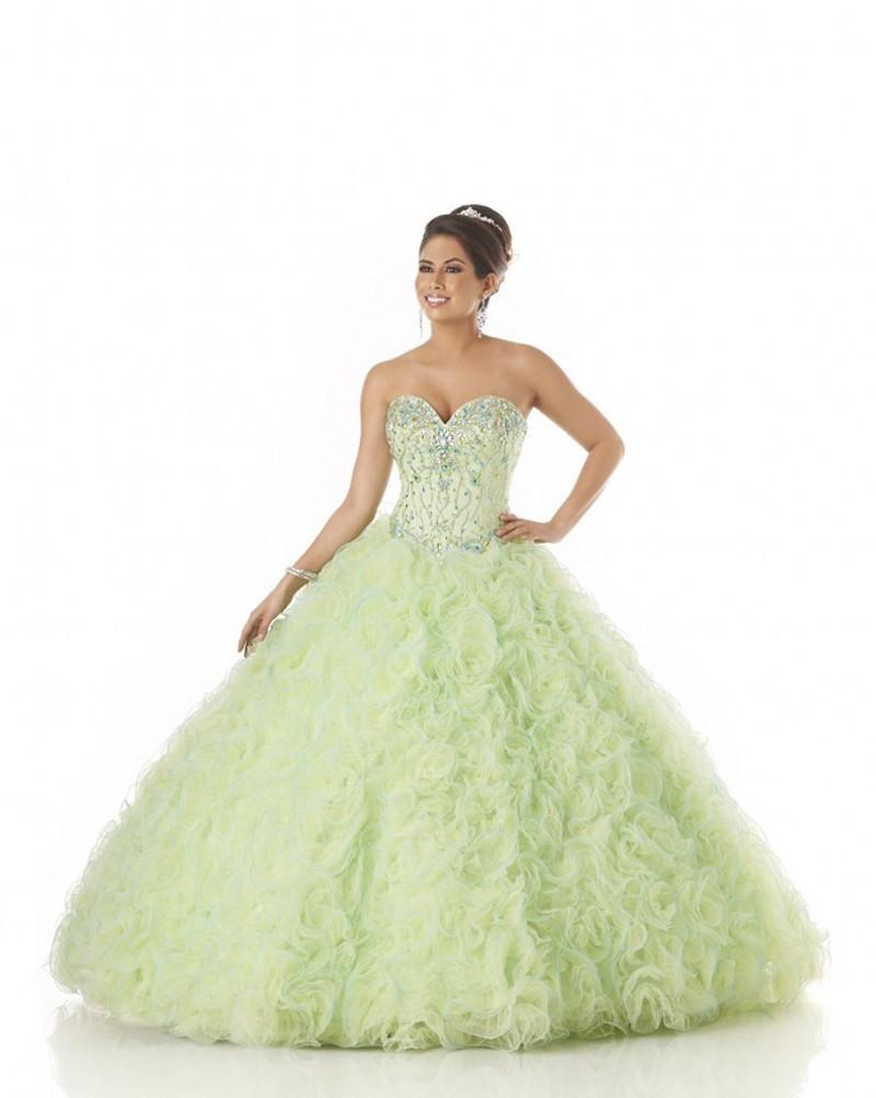 6893539acfcb9 Get Quotations · Top Quality Organza Ball Gown Mint Green Quinceanera  Dresses Vestidos De Quinceanera Sweet 16 Dresses Vestidos