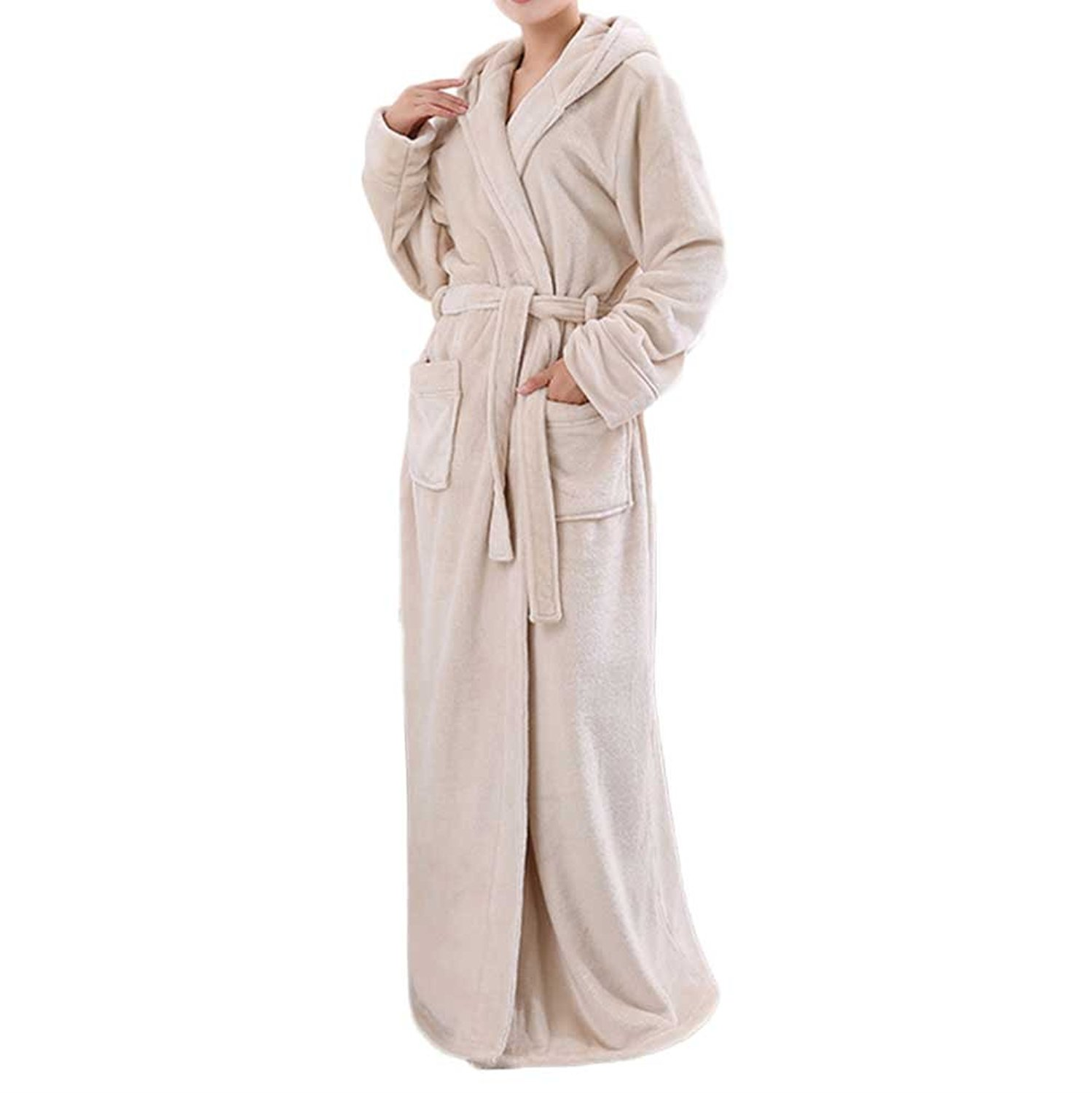 Get Quotations · Nanxson TM Women s Winter Thick Flannel Nightdress Warm  Nightgown Pajamas Bathrobe SYW0079 2f97dd1e6