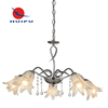 Modern luxury design chandelier with china top cyrstal