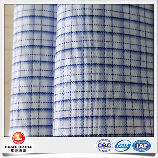 cotton yarn dyed blue and white gingham check fabric for men's shirt
