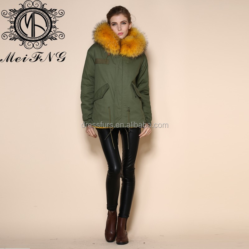 Manteau chaud jaune