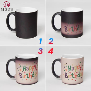 Matt sublimation color changing mug coffee cup personalized magic mug