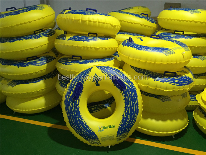 heavy duty plastic lined nylon inflatable paddle float durable vinyl fabric blow up buoyancy bag with a webbing belt