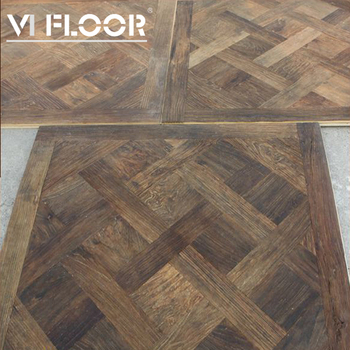 French Oak Multilayer Dark Parquet Flooring