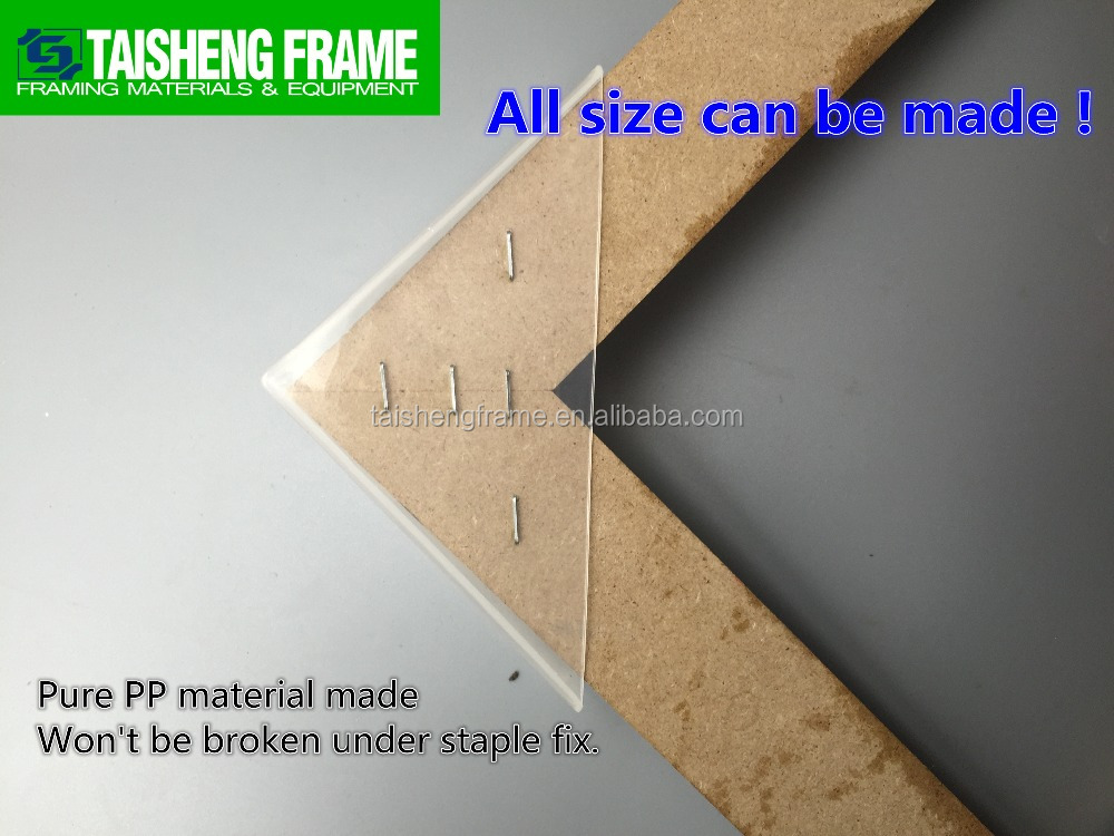 TSF42 Translucent Frame Protectors 34mm picture frame plastic corner joint