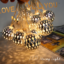 Festival indoor wall kids room decoration chain lighting batteries power sliver Cotton Ball Led String Light