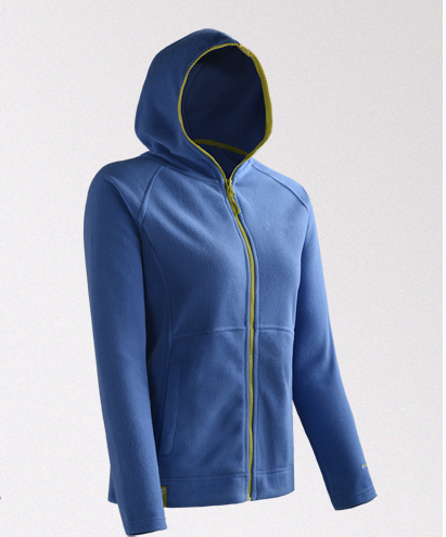 autumn and winter outdoor sport wears cheap unisex blank style full zipper hooded fleece jacket