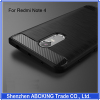 Factory Price High Quality Luxury Brushed Silicon Protective Cover Case For Xiaomi Redmi NOTE4X / Redmi NOTE4 / Redmi Note 3