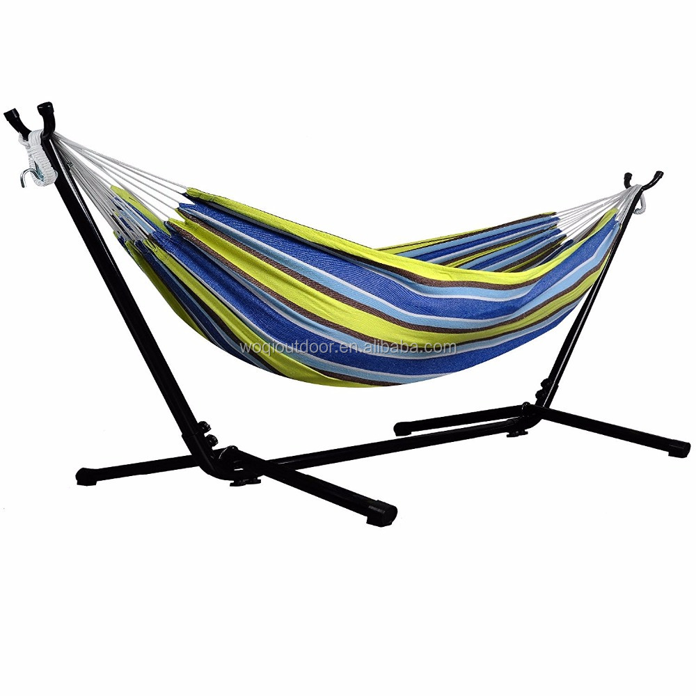 Woqi Hammock With Stand,Space Saving Steel Stand Hang hammock chair stand,Heavy Duty Hammock Straps