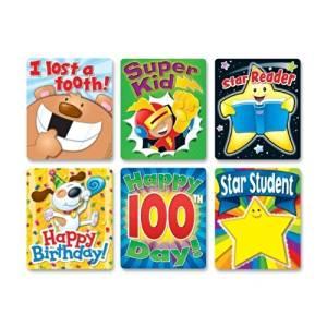 CDP144249 - Carson-Dellosa Braggin' Badges Colorful Sticker