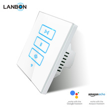 Google Home base home automation system Lanbon smart curtain switch shutter controller roller curtain switch