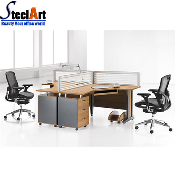 Merveilleux Executive Curved Workstation 2 Person Office Desk