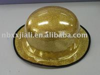 Model6019 festival party purpose plastic glitter derby hat