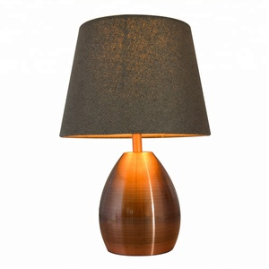Decorative hotel bedroom bedside lamp copper desk lamp