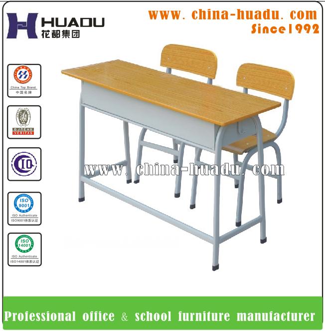 Estudiante escritorio doble acero de mobiliario escolar for Mobiliario para estudiantes